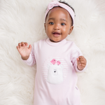 Load image into Gallery viewer, Pink Bear Babygro