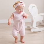 Load image into Gallery viewer, Pink Striped Romper