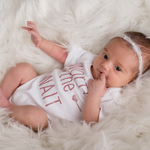 Load image into Gallery viewer, Worth the Wait Onesie - White