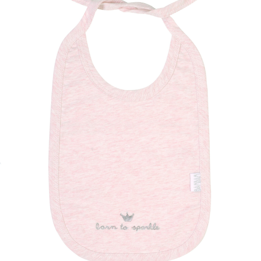 Pink Bib ''born to sparkle''