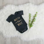 Load image into Gallery viewer, Worth the Wait Onesie - Black