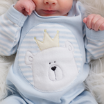 Load image into Gallery viewer, Blue Bear Babygro
