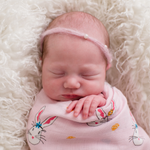 Load image into Gallery viewer, Bunny Pink Swaddle