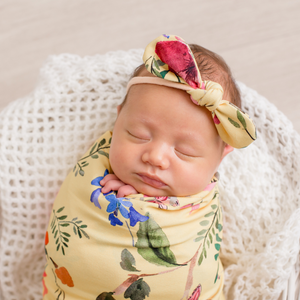 Floral Swaddle - Yellow