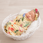 Load image into Gallery viewer, Floral Swaddle - Yellow