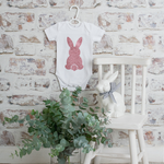 Load image into Gallery viewer, Glitter Bunny Onesie - White