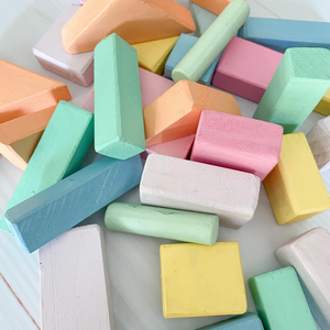 Pastel Wooden Blocks