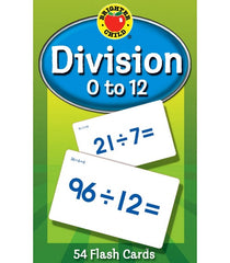 Division 0 to 12 Flash Cards Grade 3-5
