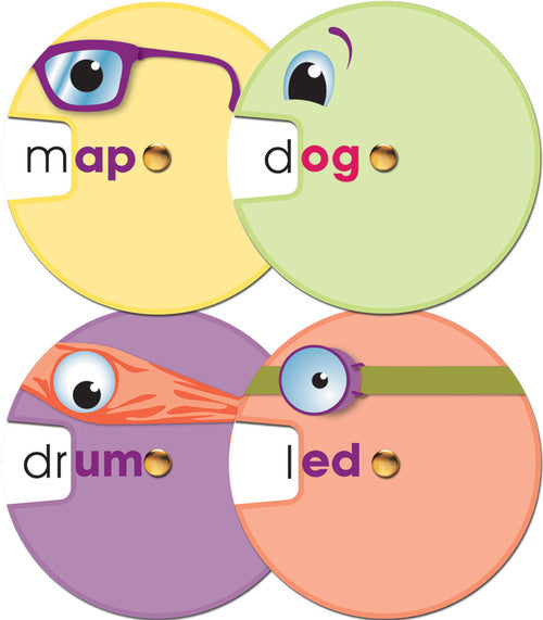 Word Wheels: Word Families Curriculum Cut-Outs (Grade K-2)