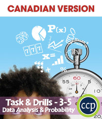 Data Analysis & Probability - Task & Drill Sheets - Canadian Content (Grades 3-5) - Download Only