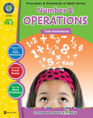 Number & Operations - Task Sheets (PreK-Grade 2) - Download Only