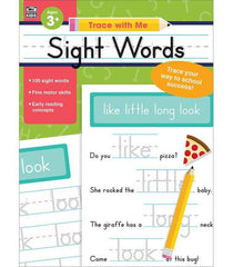 Trace with Me: Sight Words Activity Book (PreK-Grade 2)
