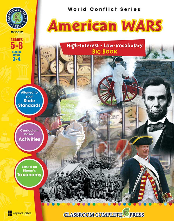 American Wars Big Book (Grades 5-8) - Download Only