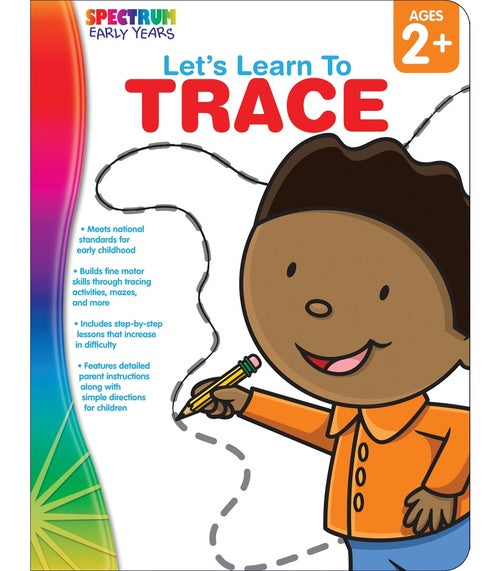 Let's Learn to Trace Workbook (Toddler-PreK)