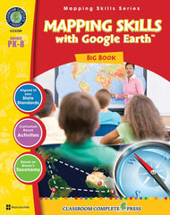 Mapping Skills with Google Earth Big Book (PreK-Grade 8) - Download Only