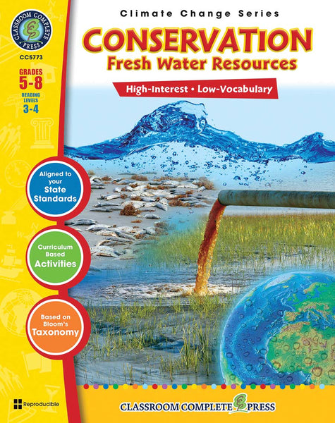 Conservation: Fresh Water Resources (Grades 5-8) - Download Only