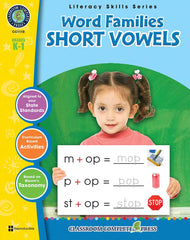 Word Families: Short Vowels (Grades K-1) - Download Only