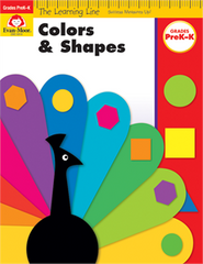 Learning Line: Colors and Shapes, PreK-K - Activity Book
