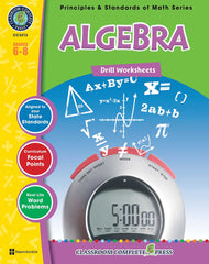 Algebra - Drill Sheets (Grades 6-8) - Download Only