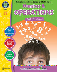 Number & Operations - Task Sheets (Grade 6-8) - Download Only