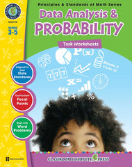 Data Analysis & Probability - Task Sheets (Grades 3-5) - Download Only