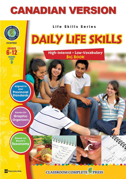 Daily Life Skills Big Book - Canadian Content (Grade 6-12) - Download Only