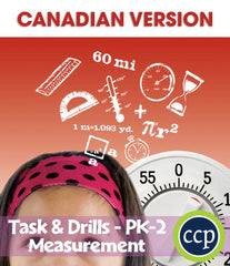 Measurement - Task & Drill Sheets - Canadian Content (PreK-Grade2) - Download Only