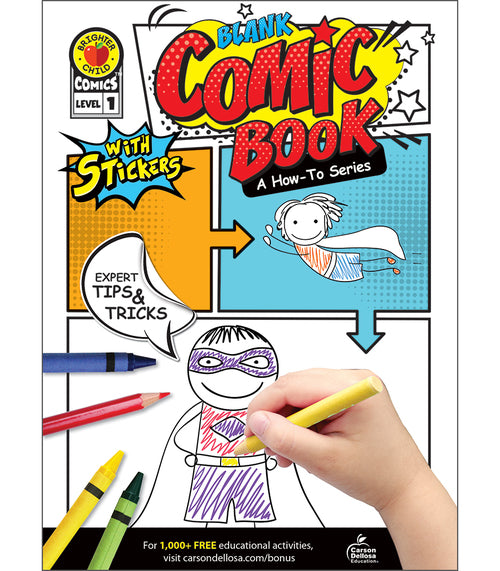 Blank Comic Book: A How-To Series Level 1 Activity Book (Grade K-2)