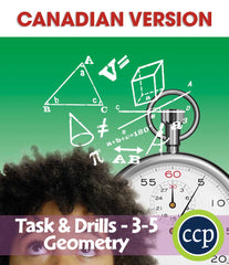 Geometry - Task & Drill Sheets - Canadian Content (Grades 3-5) - Download Only