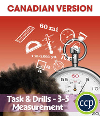 Measurement - Task & Drill Sheets - Canadian Content (Grades 3-5) - Download Only
