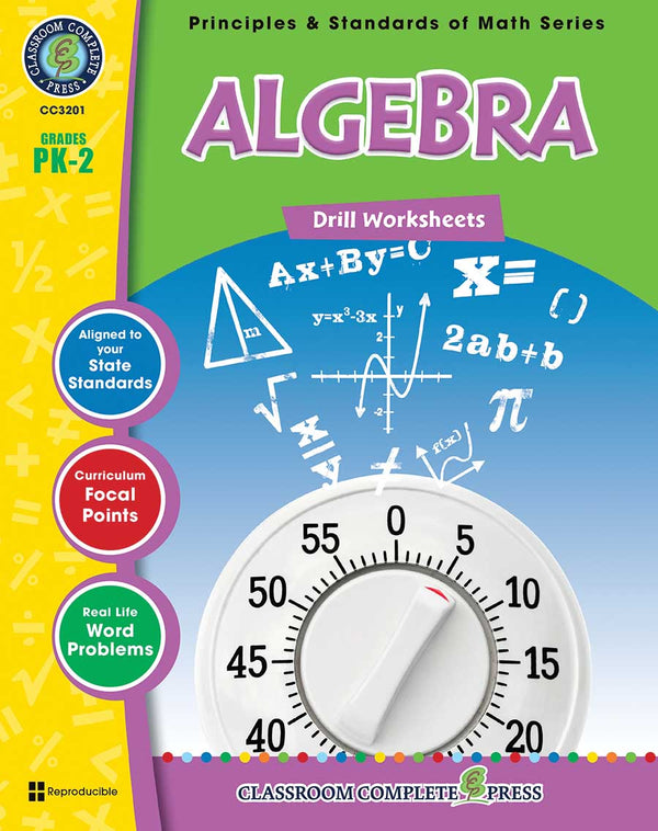 Algebra - Drill Sheets (PreK-Grade 2)  - Download Only