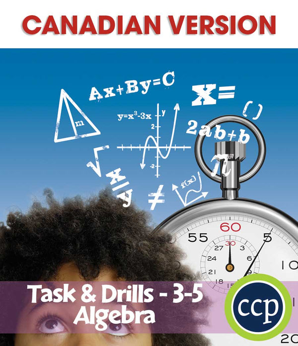 Algebra - Task & Drill Sheets - Canadian Content (Grades 3-5) - Download Only