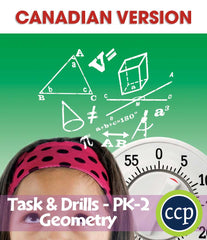 Geometry - Task & Drill Sheets - Canadian Content (PreK-Grade 2) - Download Only