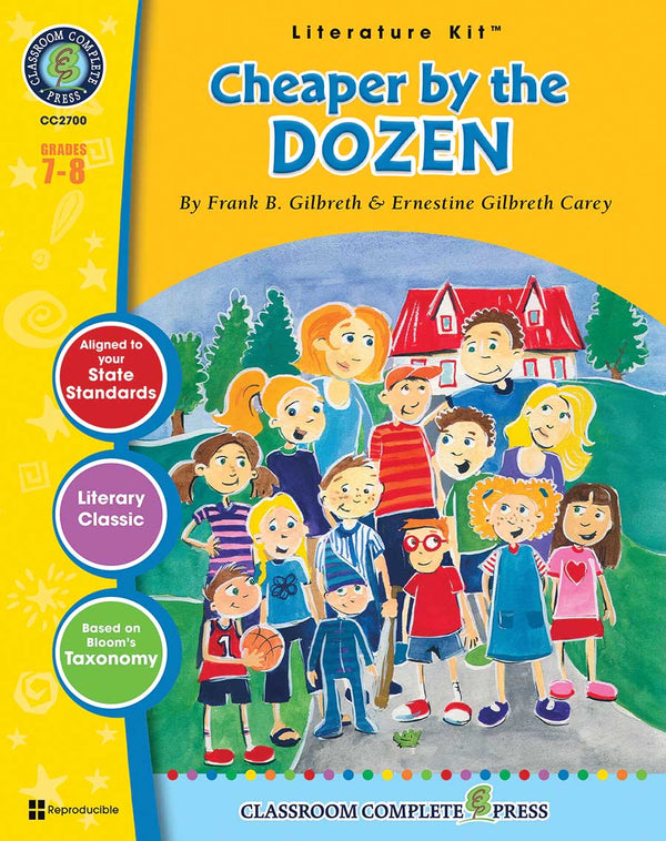 Cheaper by the Dozen Literature Kit (Grades 7-8) - Download Only