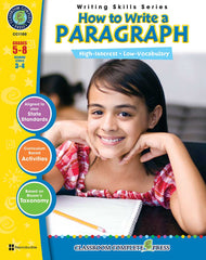 How to Write a Paragraph (Grades 5-8) - Download Only