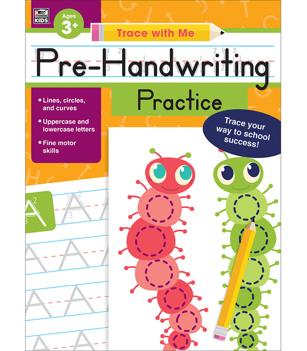 Trace with Me: Pre-Handwriting Practice Activity Book