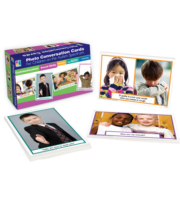 Photo Conversation Cards for Children on the Autism Spectrum Learning Cards Grade K-5