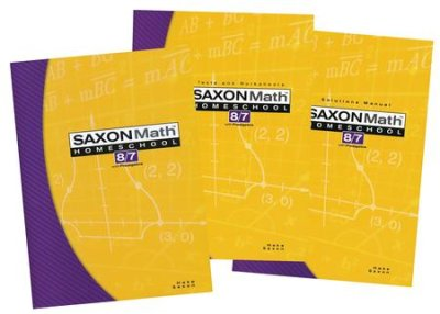 Saxon Math 8/7 Homeschool Complete Kit 3rd Edition