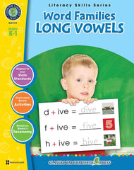 Word Families: Long Vowels (Grades K-1) - Download Only
