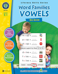 Word Families: Vowels Big Book (Grades K-1)- Download Only