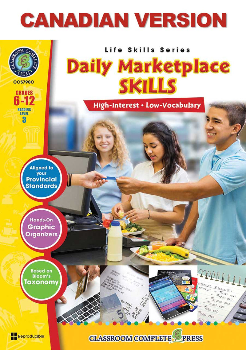 Daily Marketplace Skills - Canadian Content (Grades 6-12)