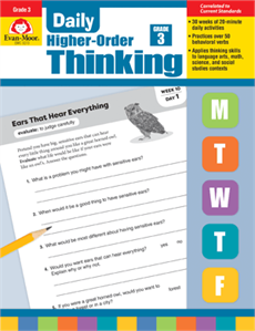 Daily Higher-Order Thinking Grade 3