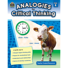 Analogies for Critical Thinking Gr. 4