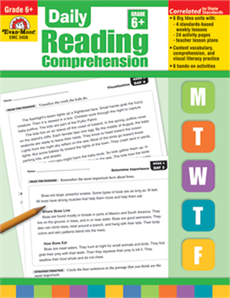 Daily Reading Comprehension Grade 6