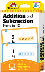 Addition and Subtraction Facts to 10 Flash Cards