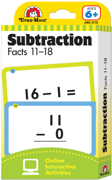 Subtraction Facts 11-18 Flash Cards