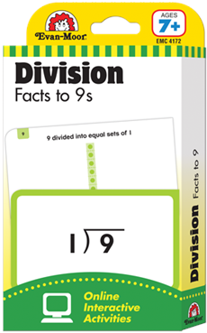 Division Facts to 9s Flash Cards