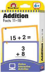 Addition Facts 11-18 Flash Cards