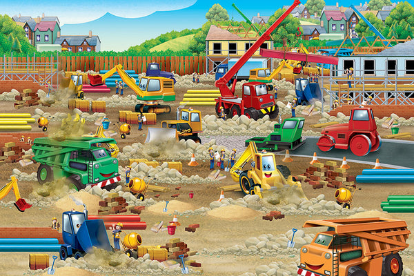 Construction Zone 36 Piece Floor Puzzle