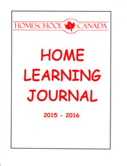 Homeschool Canada Home Learning Journal